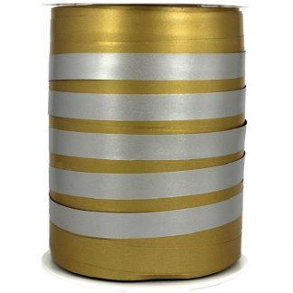 Gold + Silver Bicolour Matte Ribbon 10mm
