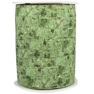 Green Cork Matte Ribbon 10mm