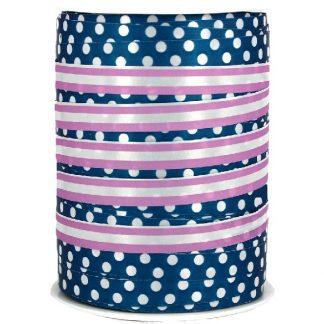 Blue + Purple Dots & Stripes Ribbon