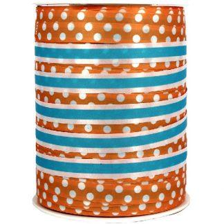 Orange + Blue Dots & Stripes Ribbon