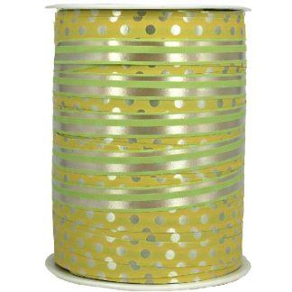 Yellow + Green Dots & Stripes Ribbon