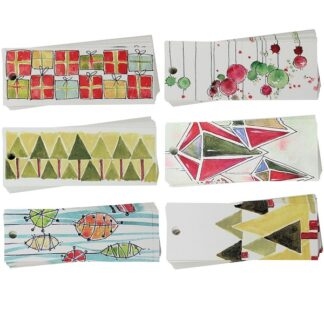 Christmas Drawings Mix Gift Tags
