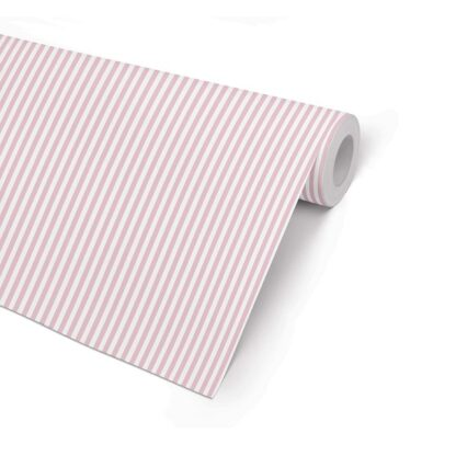 Matte Double Sided Pink 5 Stripe Wrapping Paper