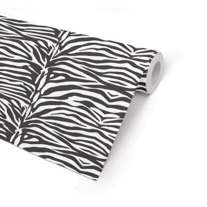 Matte Zebra Wrapping Paper