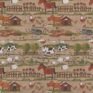 Ribbed Farmyard Brown Kraft Wrapping Paper 57cm x 200m