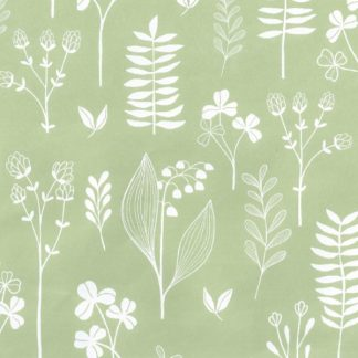 Matte Vintage Green Wrapping Paper 57cm x 160m