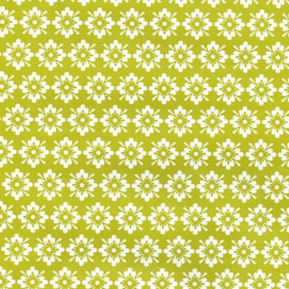Green Folkflower Wrapping Paper 57cm x 160m