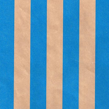 Ribbed Blue Rand Brown Kraft Wrapping Paper 57cm x 200m
