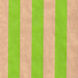 Ribbed Green Rand Brown Kraft Wrapping Paper 57cm x 200m