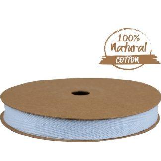 Soft Blue Cotton Ribbon