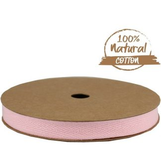 Soft Pink Cotton Ribbon