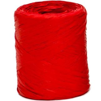 Fire Red Raffia