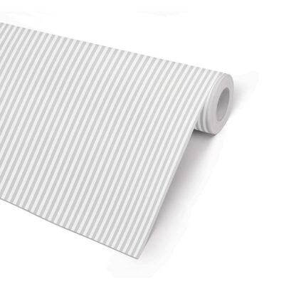 Silver 5 Stripe Wrapping Paper