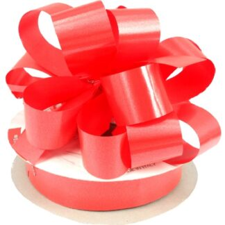 Red Satin Pull Bow 31mm