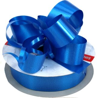 Royal Blue Satin Pull Bow 31mm