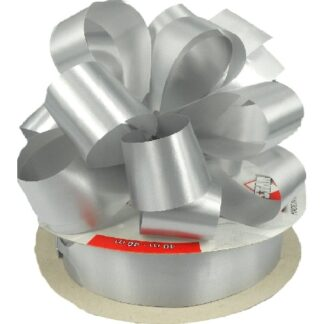 Silver Satin Pull Bow 31mm