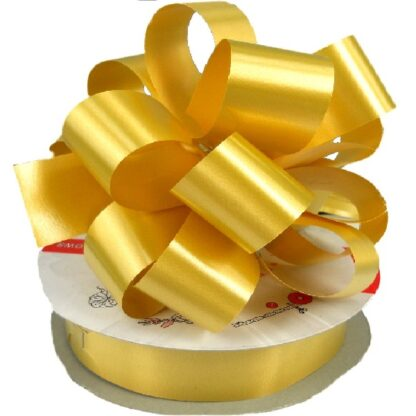 Gold Satin Pull Bow 31mm