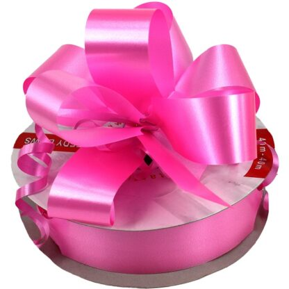 Pink Satin Pull Bow 31mm