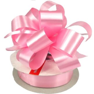 Pale Pink Satin Pull Bow 31mm