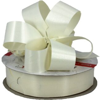 Cream Satin Pull Bow 31mm