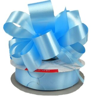 Pale Blue Satin Pull Bow 31mm