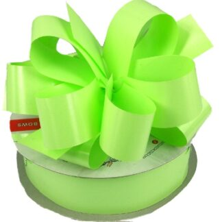 Lime Satin Pull Bow 31mm
