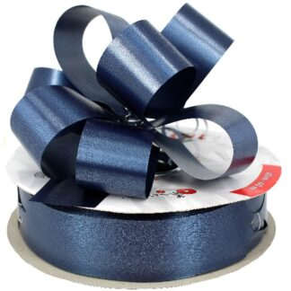 Navy Satin Pull Bow 31mm