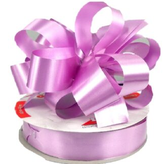 Lilac Satin Pull Bow 31mm