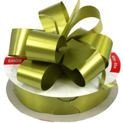 Olive Satin Pull Bow 31mm