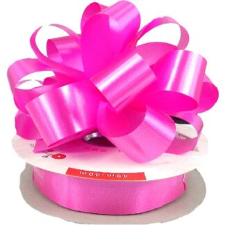 Cerise Satin Pull Bow 31mm
