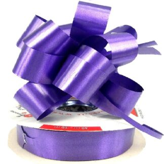 Purple Satin Pull Bow 31mm