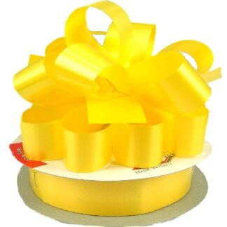 Yellow Satin Pull Bow 31mm
