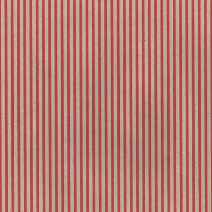 Red Stripes on Brown Kraft Wrapping Paper 57cm x 160m