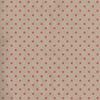 Red Dots Kraft Wrapping Paper