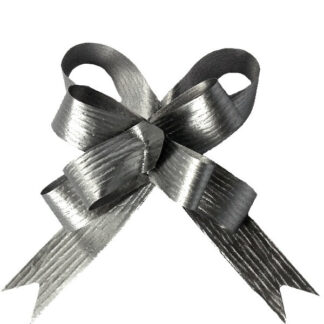Silver Matte Pull Bow 19mm