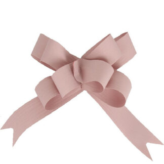 Dusky Pink Matte Pull Bow 19mm