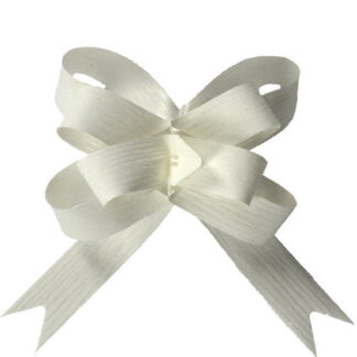 White Matte Pull Bow 19mm