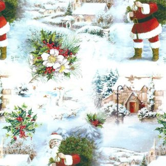 White Christmas Narrow Wrapping Paper 38cm x 160m