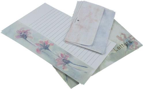Letter Set Blue Flora