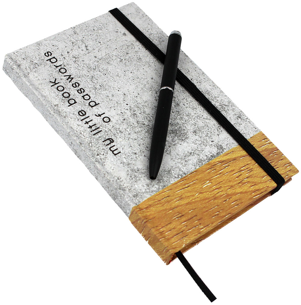 Password Book Concrete