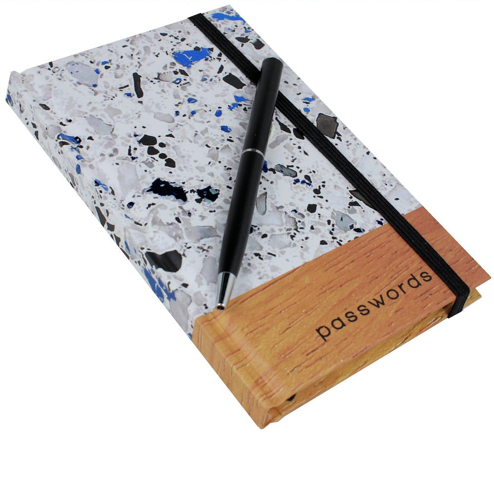 Password Book Terrazzo
