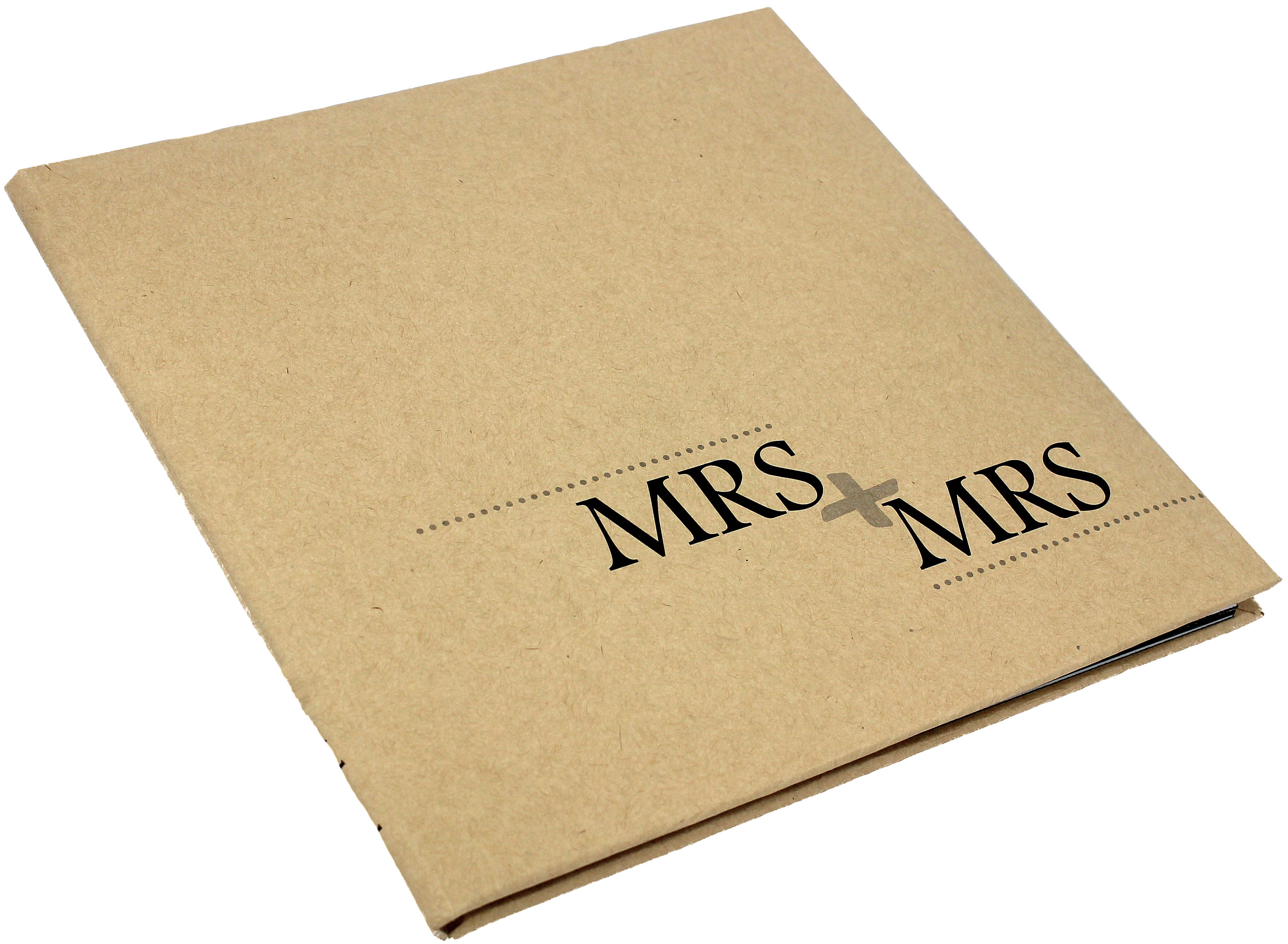 Kraft Guest Book Mrs + Mrs