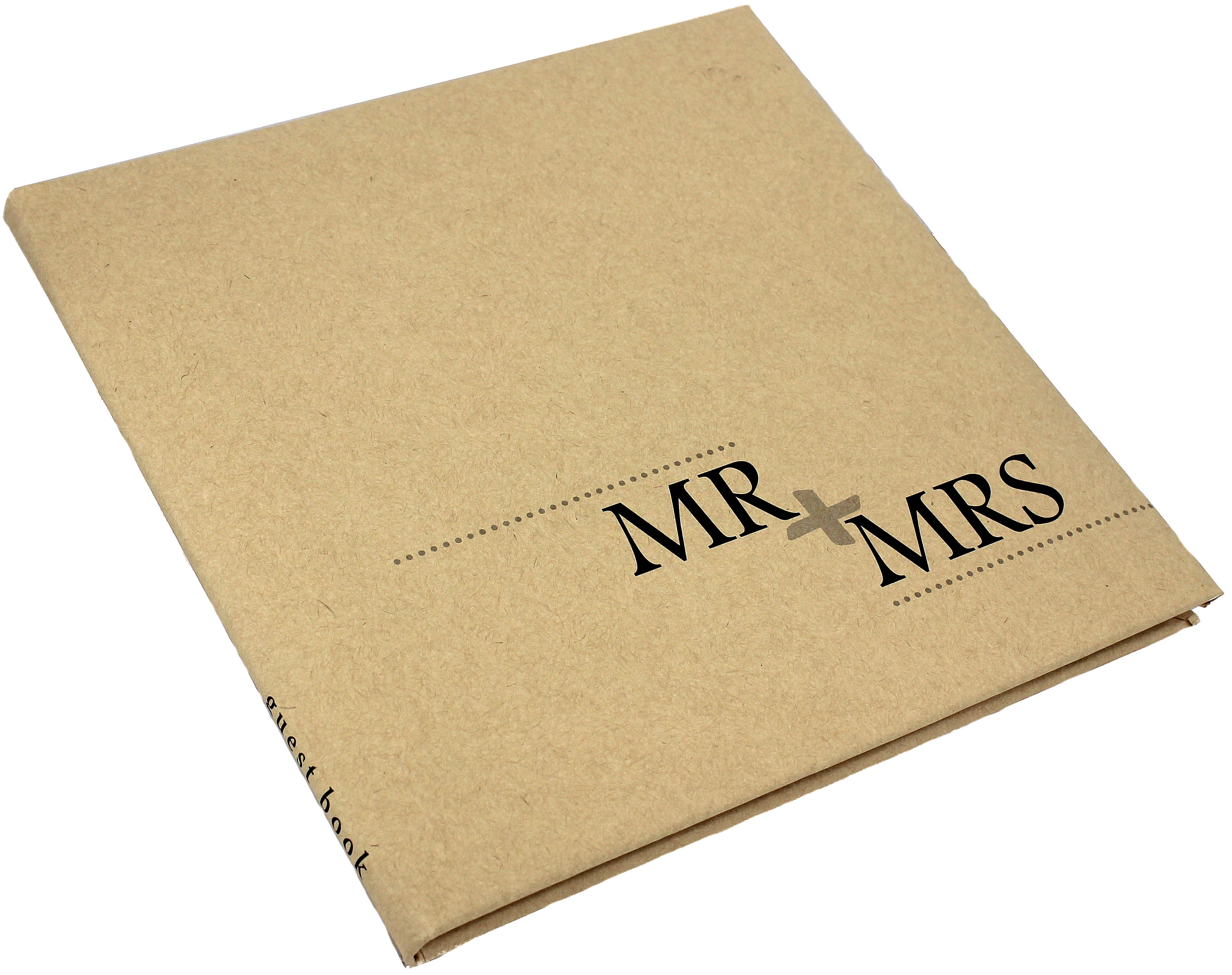 Kraft Guest Book Mr + Mrs