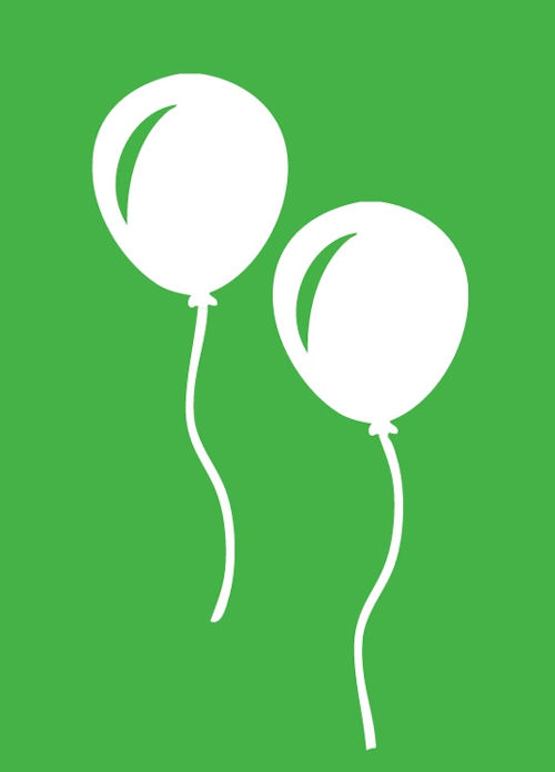 Green Balloons Gift Card