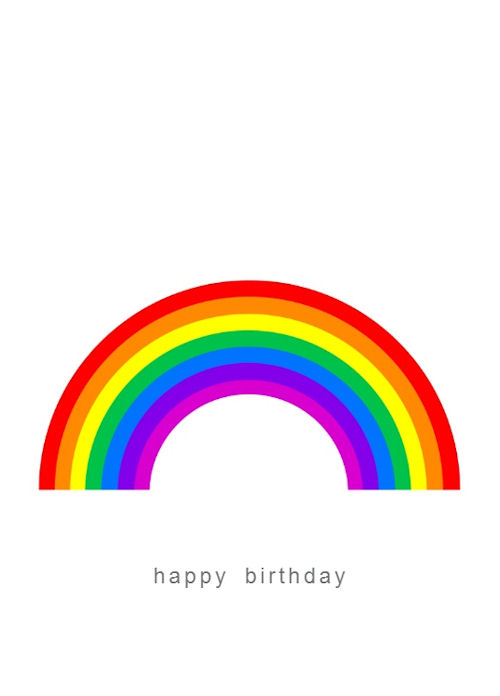 Happy Birthday Rainbow Gift Card