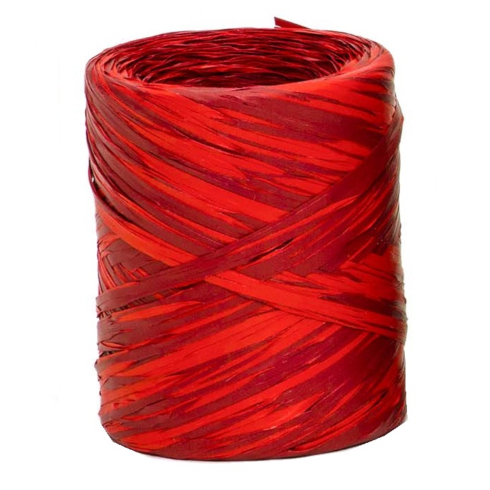 Red + Burgundy Bicolour Raffia