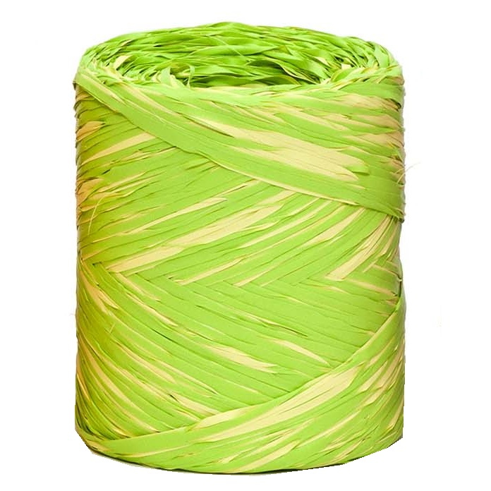Lime + Yellow Bicolour Raffia