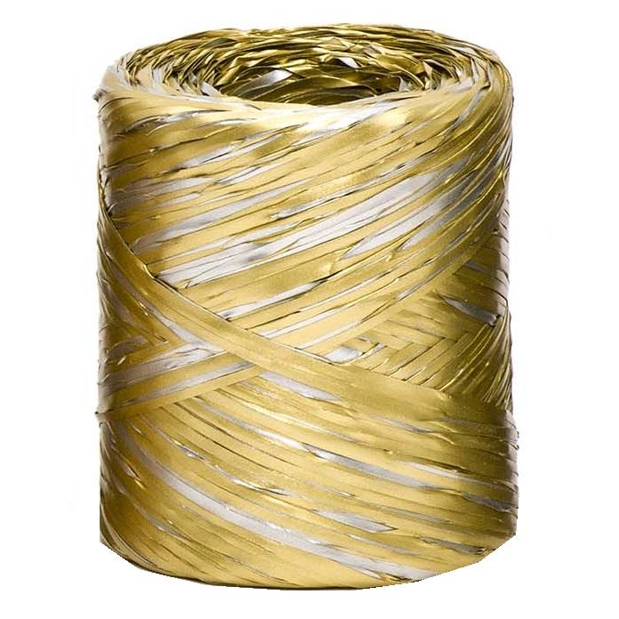 Gold + Silver Bicolour Raffia