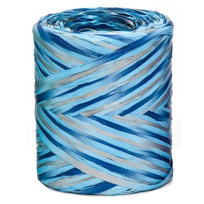 Blue - Silver Tricolour Raffia