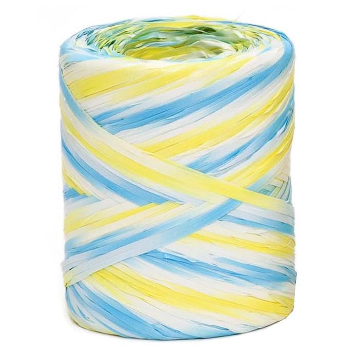 Blue - Yellow Tricolour Raffia